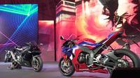 Motor baru Honda, Motor baru Honda, CBR1000RR-R Fireblade dan CBR1000RR-R Fireblade SP yang akan tampil di EICMA 2019 (Liputan6.com/Marco Tampubolon)