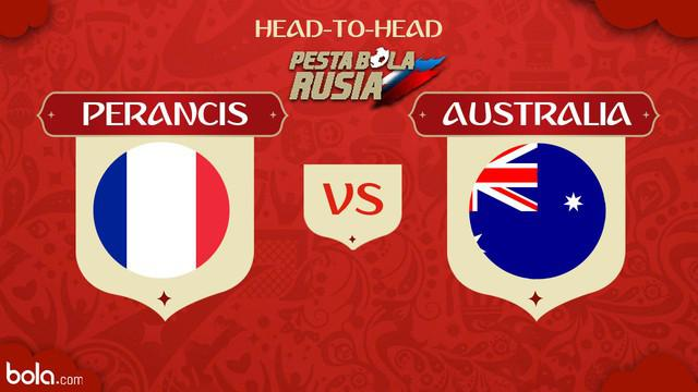 Berita video head-to-head Piala Dunia Rusia 2018: Perancis vs Australia.