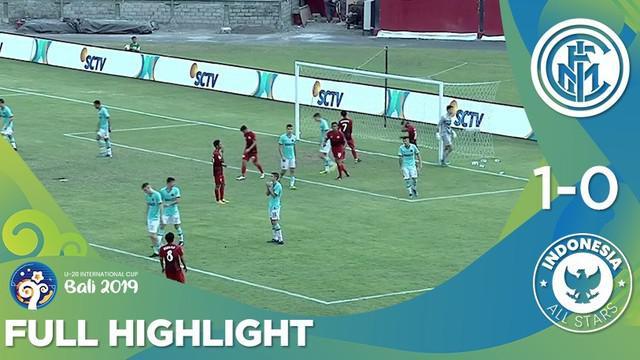 Berita video highlights U-20 International Cup 2019 antara Inter Milan U-20 melawan Indonesia All Stars U-20 yang berakhir dengan skor 1-0, Kamis (5/12/2019).