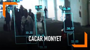 Bandara Internasional Ngurah Rai Bali tingkatkan kewaspadaan antisipasi masuknya virus cacar monyet atau monkeypox. Salah satunya dengan menggunakan alat pemindai suhu penumpang yang datang.