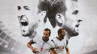 Harry Kane - Tottenham Hotspur dan Inggris (Bola.com/Adreanus Titus)