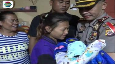 Polrestabes Bandung amankan seorang bayi perempuan yang baru dilahirkan dari tangan penculik.