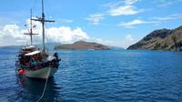 Butuh waktu sekitar 4 jam dengan Kapal Pinisi dari Labuan Bajo untuk sampai ke Pulau Padar. (Amal/Liputan6.com)