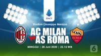 AC MILAN VS AS ROMA (Liputan6.com/Abdillah)