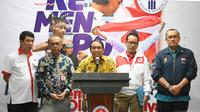 Menpora Zainudin Amali memastikan kontingen Indonesia yang akan berlaga di SEA Games Filipina 2019 akan berjuang untuk memperbaiki peringkat lebih baik dari hasil di SEA Games Malaysia 2017. (foto:kemenpora)