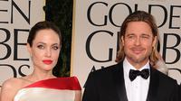 Untuk bertahun-tahun, Brad Pitt menjadi pasangan Angie di Golden Globes. Sempat jadi pasangan paling romantis, mereka pun menjadi pusat perhatian. (Jason Merritt / GETTY IMAGES NORTH AMERICA / AFP)