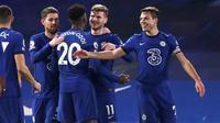 Chelsea meraih kemenangan 2-0 atas Newcastle United pada laga pekan ke-24 Premier League di Stamford Bridge, Selasa (16/2/2021) dini hari WIB. Satu dari dua gol The Blues dicetak Olivier Giroud. (Paul Childs/Pool via AP)
