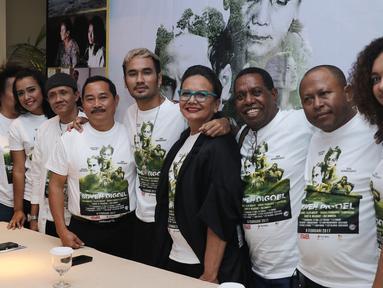 Rumah produksi asal Papua, Foromoko Matoa Indah Film resmi memperkenalkan film pertama yakni, Boven Digoel, Jakarta, Senin (6/2). Film drama ini mempunyai latar belakang budaya dan keindahan alam Papua. (Liputan6.com/Herman Zakharia)
