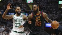 LeBron James sukses mencetak 46 poin saat melawan Celtics (AP)