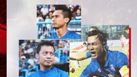Hendro Siswanto, Hamka Hamzah dan Ahmad Alfarizi. (Bola.com/Dody Iryawan)