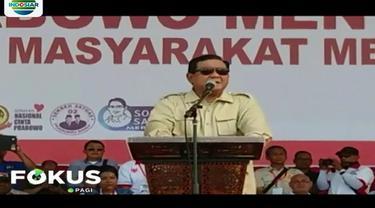 Kegiatan kampanye terbuka diawali dengan menyanyikan lagu Indonesia Raya dan dilanjutkan dengan pidato kebangsaan oleh Capres Prabowo.
