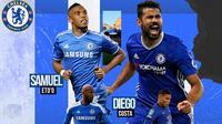 Chelsea - Samuel Eto'o, Diego Costa, Nicolas Anelka, Thiago Silva (Bola.com/Adreanus Titus)