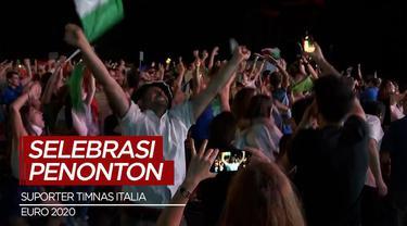 Berita Video Fans Timnas Italia Rayakan Kemenangan Euro 2020 Usai Kalahkan Inggris Lewat Adu Penalti