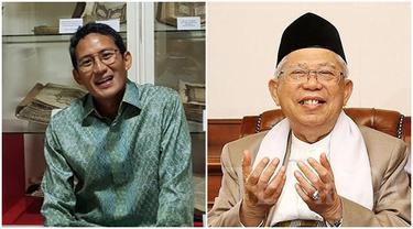 Jokowi dan Prabowo Bertemu, Ini Kegiatan Ma'ruf Amin dan Sandiaga Uno