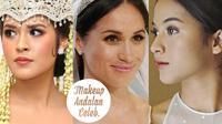 Bukan jamannya pakai makeup ribet saat menikah, lihat seleb A-list ini yang tampil sederhana di hari spesial. (Sumber foto: KapanLagi, enews,ifanrifaldi/instagram)