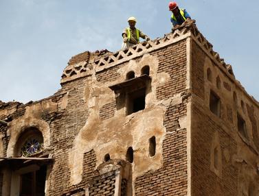 Banjir Yaman Hancurkan 4 Bangunan Bersejarah di Kota Tua Sana'a