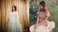 Pesona Nadin Amizah dalam Balutan Busana Vintage. (Sumber: Instagram/cakecaine)