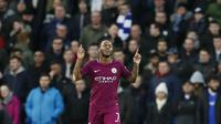 4. Raheem Sterling (Manchester City) - 15 Gol (1 Penalti). (AP/Kirsty Wigglesworth)