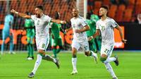 Timnas Aljazair menang 1-0 atas Senegal dalam laga final Piala Afrika 2019 di Cairo International Stadium, Kairo, Jumat (19/7/2019) malam waktu setempat. (AFP/Giuseppe Cacace)