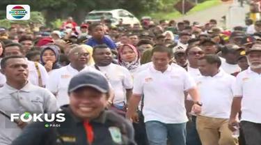Sekitar 15 ribu anak muda di Manokwari, Papua, antusias menghadiri Millennial Road Safety Festival  yang diadakan Korlantas Polri.