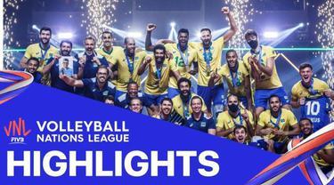 Berita Video, Final Volleyball Nations League 2021 Brasil Vs Polandia (3-1) pada Kamis (28/6/2021) dini hari WIB