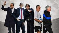 Ilustrasi Pelatih - Massilimiliano Allegri, Arsene Wenger, Antonio Conte, Didier Deschamps, Gian Piero Gasperini (Bola.com/Adreanus Titus)