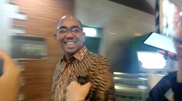 Wakil Presiden Direktur PT Freeport Indonesia Orias Petrus Moedak mendatangi Kementerian BUMN hari ini, Senin (25/11/2019).