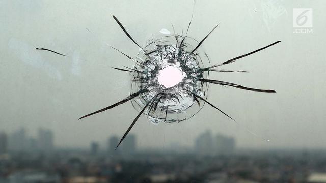 Kaca anti peluru di gedung DPR