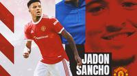 Manchester United - Ilustrasi Jadon Sancho (Bola.com/Adreanus Titus)