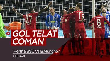Berita Video Cetak Gol di Detik Terakhir, Bayern Munchen Lolos ke Semi Final DFB Pokal