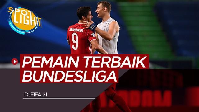 Berita video spotlight membahas Robert Lewandowski, Manuel Neuer dan 3 Pemain Terbaik Bundesliga di FIFA 21; Pemain Bayern Munchen Mendominasi