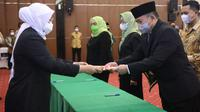 Menaker Ida di Ruang Tri Dharma Kemnaker, Jakarta, Jumat (16/4/2021).
