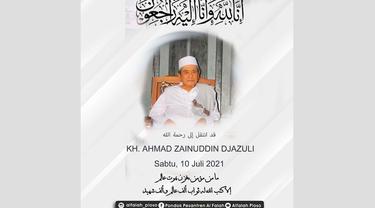 Pengasus Ponpes Al-Falah meninggal dunia (Liputan6.com/Dok: Instagram @alfalah_ploso)