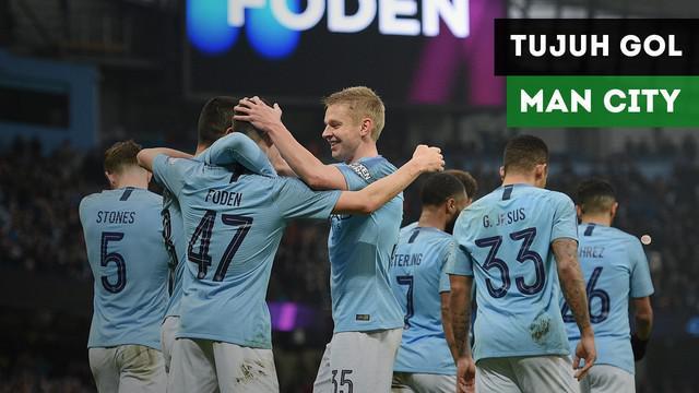 Manchester City mencukur Rotherham United dengan skor 7-0 pada babak tiga Piala FA di Etihad Stadium, Minggu (6/1/2019).