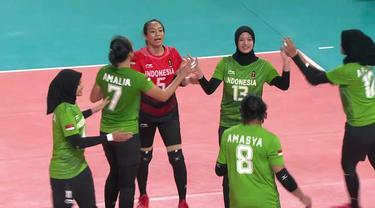 Berita video highlights pertandingan cabang olahraga voli nomor putri Asian Games 2018 antara Indonesia melawan Vietnam.