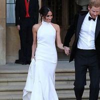 Gaun pengantin kedua Meghan Markle (Instagram Stella McCartney)
