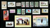 Putri Diana hingga Nuklir, Gambaran Korea Utara Lewat Perangko (Koleksi Profesof Ross King/CNN)