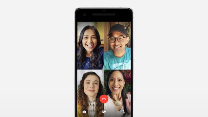 Cara Video Call di WhatsApp Grup (sumber: Make Use Of)