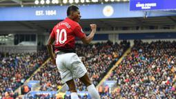 1. Marcus Rashford (Manchester United) -  Rashford menggunakan nomor punggung 10 pada musim 2018-2019. Ia menjadi andalan di lini depan skuat Setan Merah. (AFP/Ben Stansall)