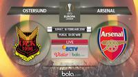 Liga Europa_Ostersund Vs Arsenal (Bola.com/Adreanus Titus)
