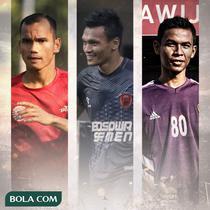 Ilustrasi - Riko Simanjuntak, Ferdinand Sinaga, Mahyadi Panggabean (Bola.com/Adreanus Titus)