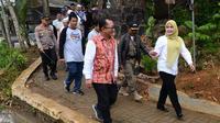 Dirjen PPMD Kemendes PDTT, Taufik Madjid dan Bupati Pandeglang Irna Narulita dalam acara Festival Embung Ramadhan di Embung Ranca Anis, Muruy, Pandeglang, Sabtu (26/5/2018).
