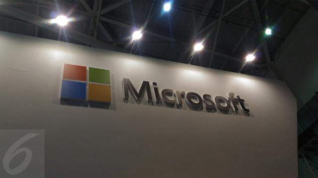 Papan Nama Booth Microsoft di Computex 2017. Liputan6.com/Mochamad Wahyu Hidayat