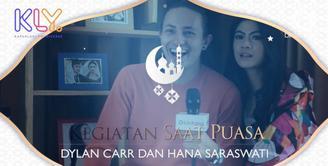 Begini kiat Dylan Carr dan Hana Saraswati Jalani puasa dengan jadwal padat.