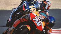 MotoGP - Alex Marquez Vs Luca Marini (Bola.com/Adreanus Titus)