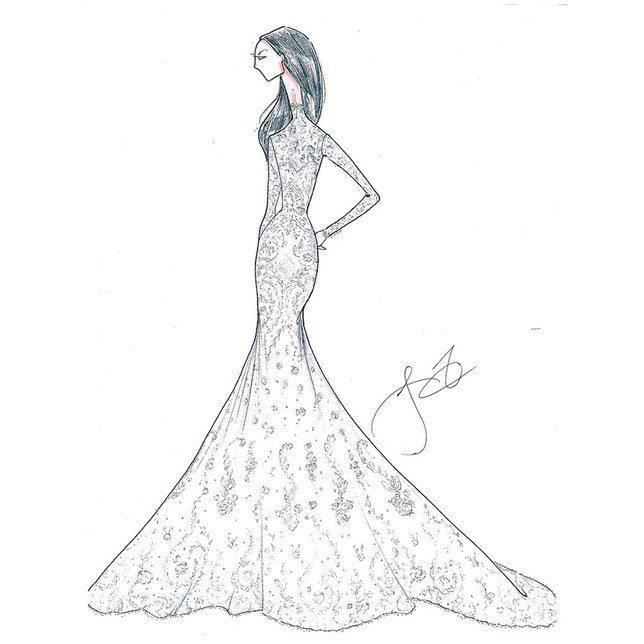 Keindahan rancangan Justin Alexander sebagai prediksi gaun pernihakan Meghan. Credit: via brides.com