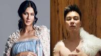 Aksi para selebriti yang tiru gaya maternity shoot istrinya, kocak abis. (Sumber: Instagram/@baimwong)