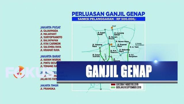 Dishub DKI Jakarta dan Ditlantas Polda Metro Jaya umumkan peresmian perluasan ganjil genap.