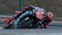 Pembalap Petronas Yamaha SRT, Fabio Quartararo. (AFP/Michal Cizek)