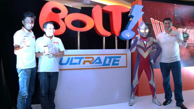 Pucuk pimpinan Bolt dan Ultraman Tiga. Foto: Bolt